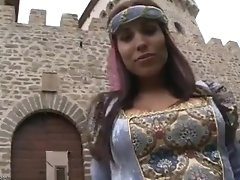Medieval princess masturbating
