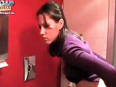 Pretty teenage chick banged in restaurant bathroom