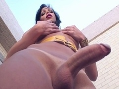 Transexual wants to bang this tight asshole with her big dick