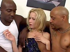 Black lads with large penises Double penetration a slender blonde