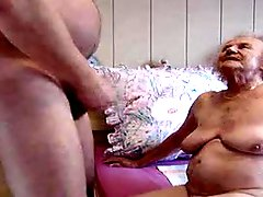 Slightly fat mature granny fucked by chubby man