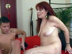 Sex-starved mature redhead Bara gets