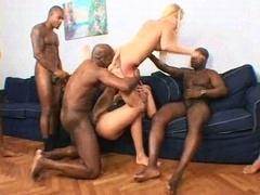 Nice-looking interracial whores enjoy it rough 2