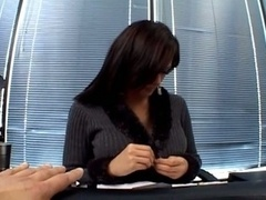 Gorgeous brunette gal naugty office fuck session