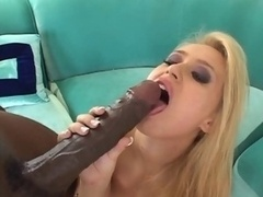 Blonde gal huge bbc interracial
