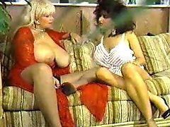 A duo huge tit retro porn models playing