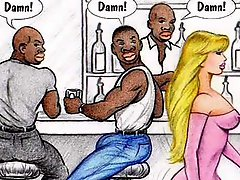 Interracial cartoon comic for your bliss