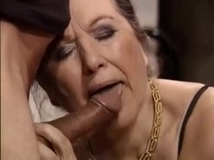 Granny and furthermore her milf daugher share this hard cock