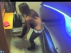 Voyeur live camera naked girl in solarium part19