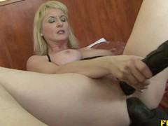 Sexy mature blonde fucked up the ass by stiff BBC