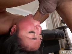 Blonde ball gag bondage and asshole gagging Rough rectal hump for Lexy Banderas birthday