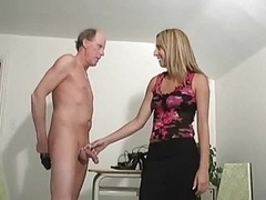 Hot Chick Jerked Old Dudes