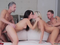 Smoking hot foursome with Little Caprice