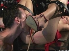 Sexy chick getting punished and fucked