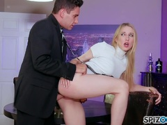 Hot Riley Reyes taken a huge cock in every position