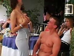 Horny group is stripping off and enjoying fuck